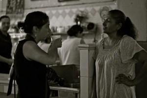 two women in the central market in Hermosillo Sonora Mexico