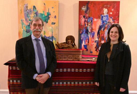 man and woman at Bolivian embassy