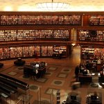 Publications. Large library with books