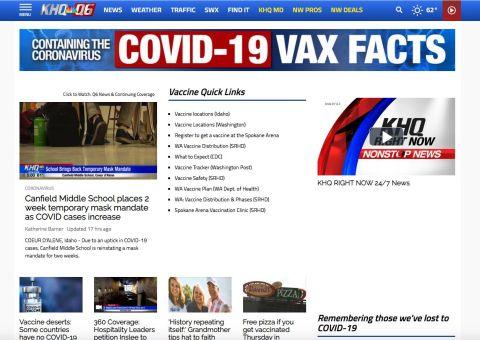 KHQ Local News website screenshot
