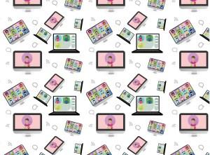 Illustration of computer screens