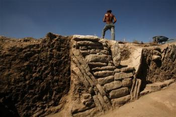Zazacatla, an Olmec-influenced city, unearthed near Xochitepec, Mexico