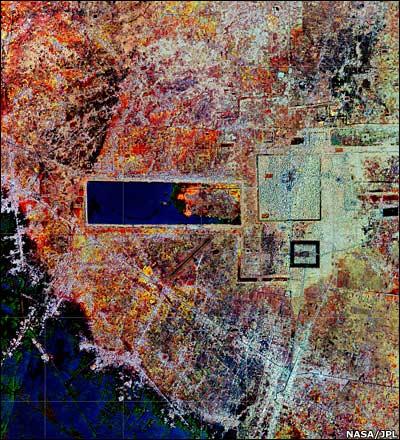 Radar image of central Angkor area