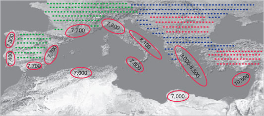 Agricultural Expansion in Neolithic Mediterreanean