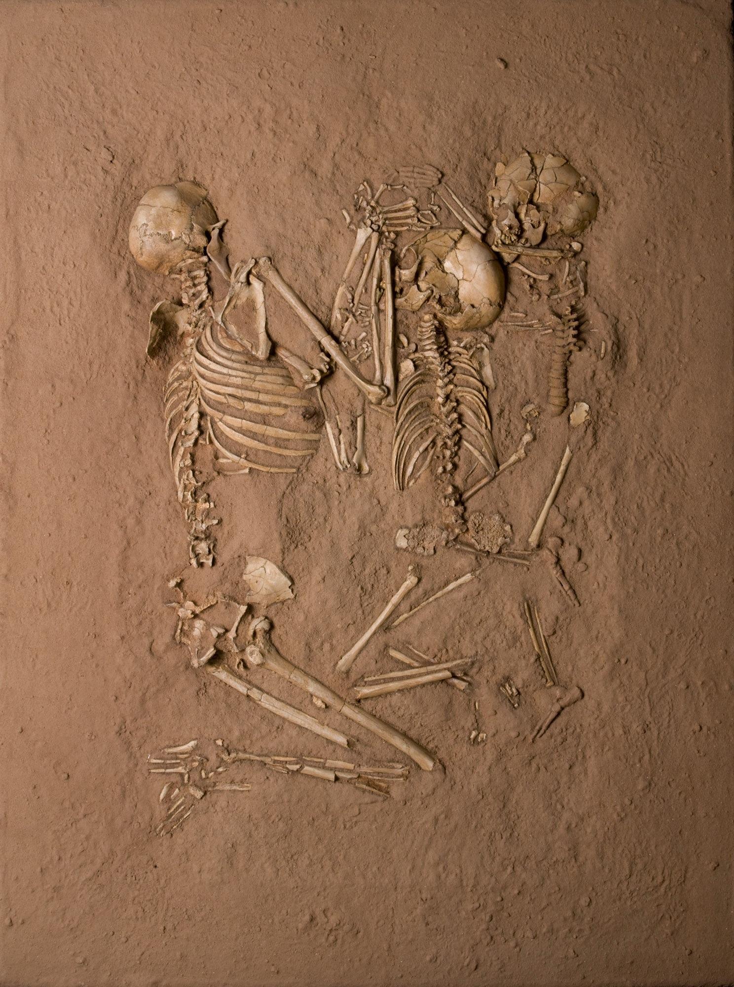 Tenerean Triple Burial, from Gobero, Niger