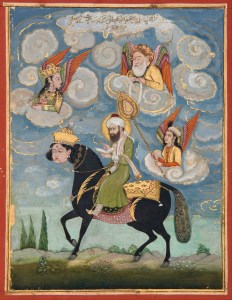 Portrait_of_the_Prophet_Muhammad_riding_the_buraq_steed_-_Google_Art_Project