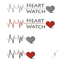 New logos for Heart Watch 2 company. Heart Watch 2 is a mobile laboratory that travels around to provide health screenings for clients.