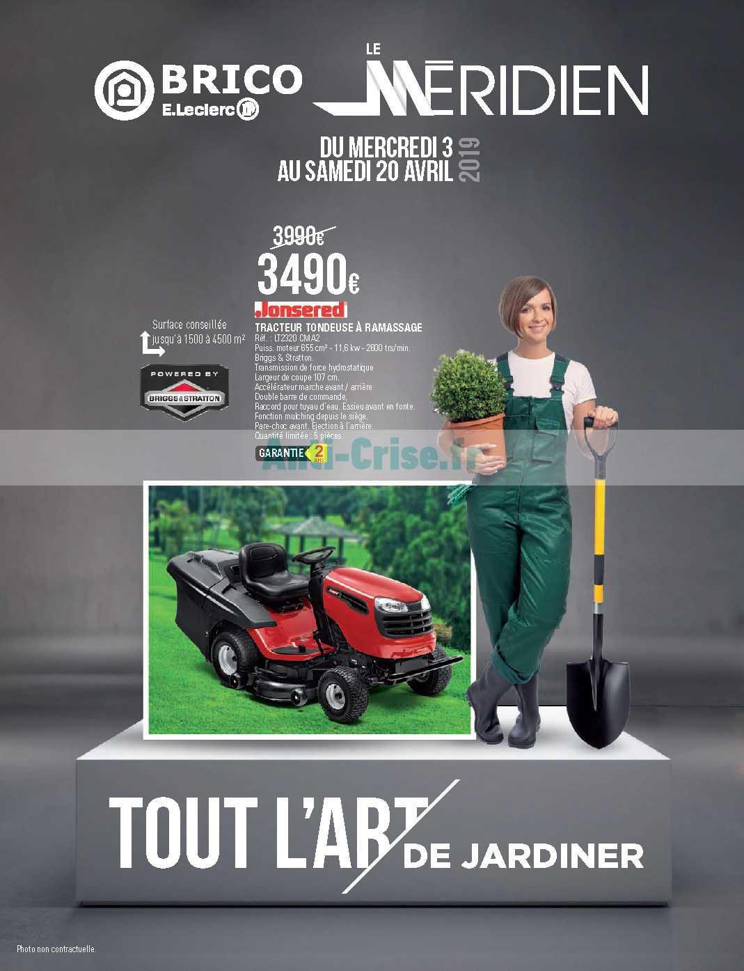 Tracteur Tondeuse Brico Leclerc