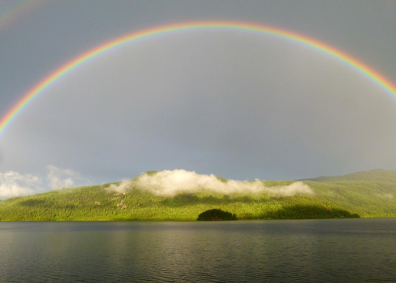 arc en ciel après la pluie espoir