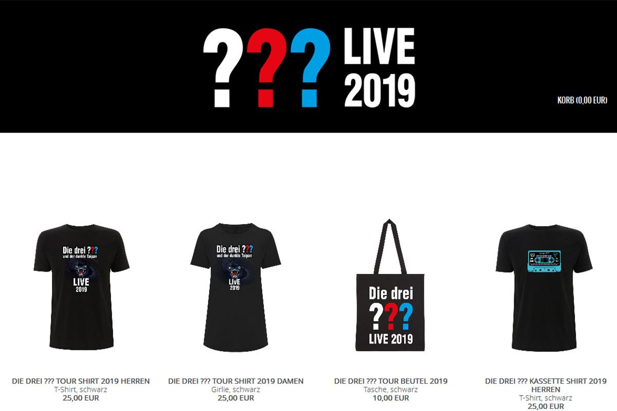 Die Drei Fragezeichen Live Merchandise Anti Design Com