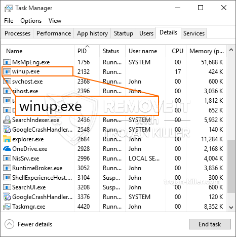 remove Winup.exe