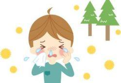 花粉症に悩む人のイラスト