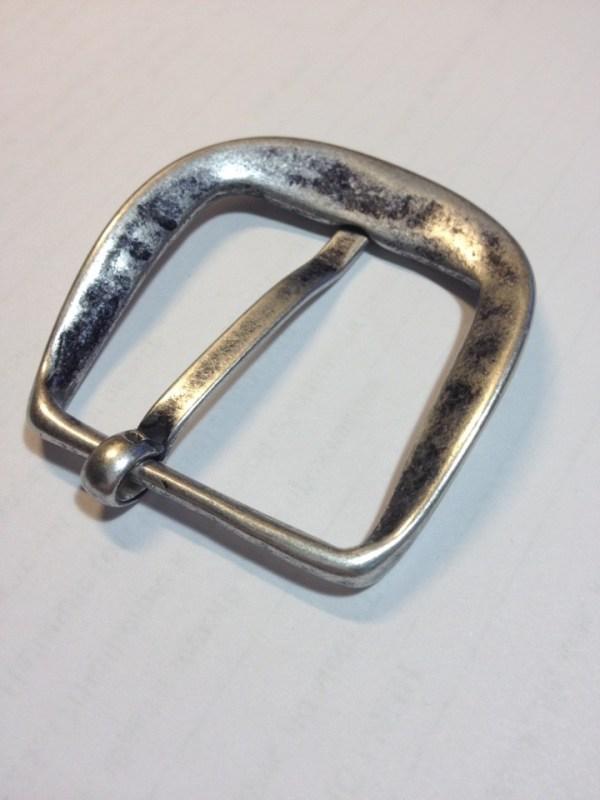 Пряжка ременная 40 мм состаренное серебро