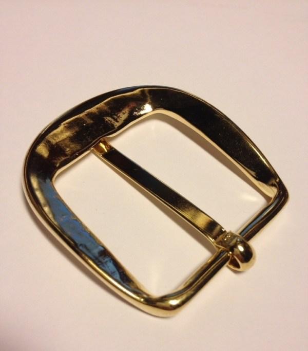 Пряжка для ремней золото 40 мм Итальянская фурнитура