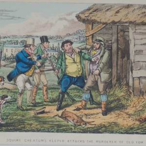 1874 Henry Alken Print Squire Cheethams Keeper