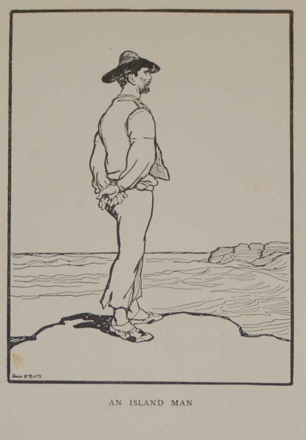 Jack B Yeats Antique Print, An Island Man, after Jack B Yeats, print from 1911
