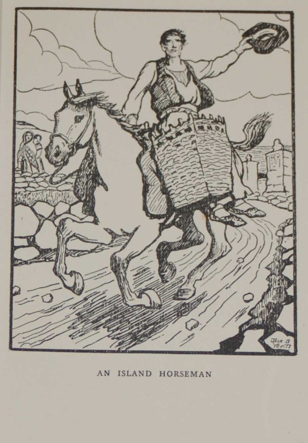 Jack B Yeats Antique Print for Sale, An Island Horseman, a Jack B Yeats print from 1911