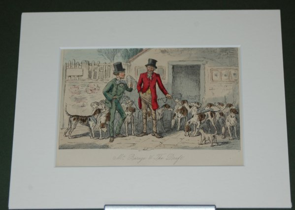 Antique Print Mr Barge and the Draft