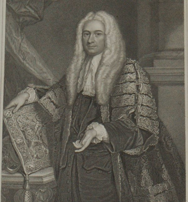 1854 steel engraving of Philip Yorke the Earl of Hardwicke. Author of the Marriage Act 1753.
