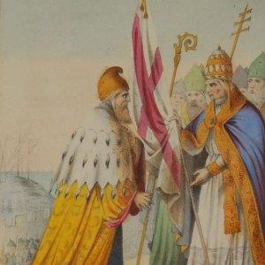 Antique print italian 1848