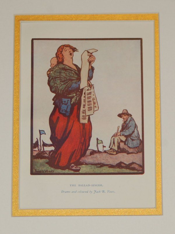 An antique Jack B Yeats Print for Sale, The Ballad Singer from 1912