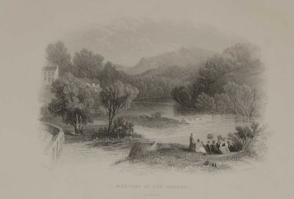 meeting of the waters wicklow 1871 antique print