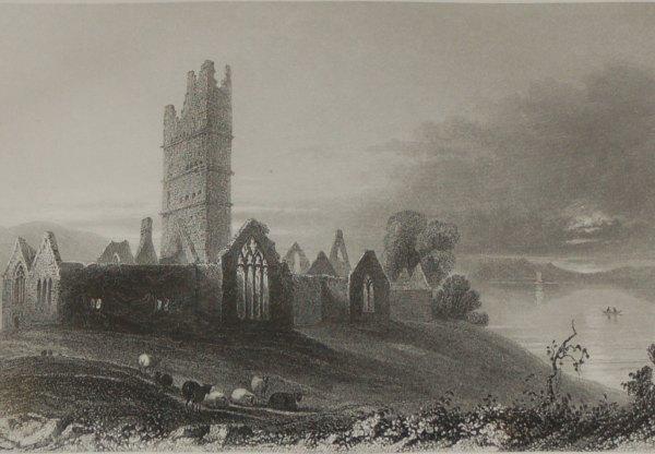 1860 engraving abbey of moyne