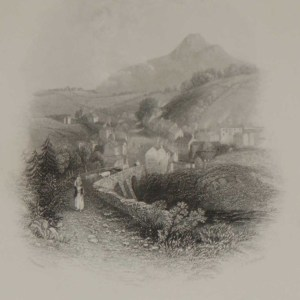 Enniskerry, County Wicklow 1871 Antique Print
