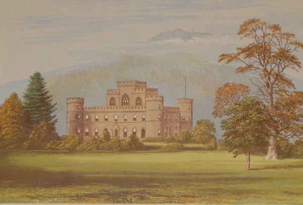 Inverary Castle Antique Print 1880