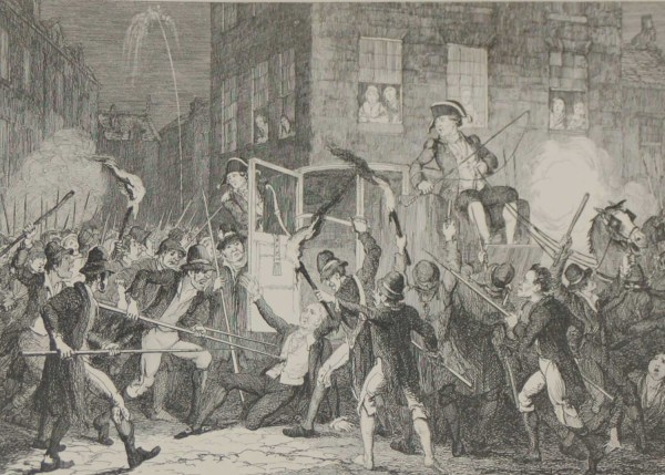 The Murder of Lord Kilwarden Antique Print