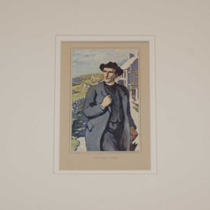 Jack B Yeats The Parish Priest . An antique print after Jack B Yeats from 1913 published by T & N Foulis, London