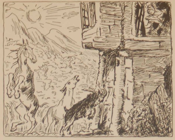 Jack B Yeats The Fellows Thought from 1933 published by The Macmillan Company in New York.