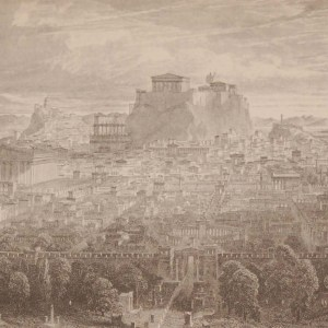 Restoration of the City of Athens 1892 antique print