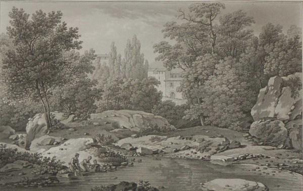 1817 Aquatint Vue de Lords de la Moine