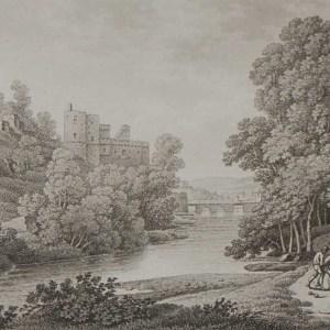 Aquatint from 1817 by the famous Austrian engraver Benedict Piringer, titled Vue du Pont de Clisson, prise de la prairie de la Garenne