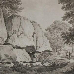 Aquatint from 1817 by the famous Austrian engraver Benedict Piringer, titled, Vue d'un Rocher de Granit, dans le Bois de la Garenne á Clisson