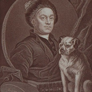 Antique print an engraving after William Hogarth . The engraving is titled William Hogarth.