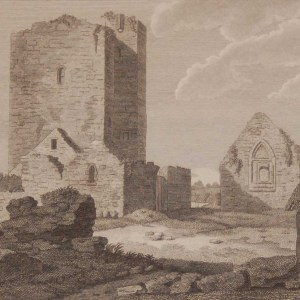 1797 antique print a copper plate engraving of St Mary's Church Thurles, County Tipperary, Ireland.