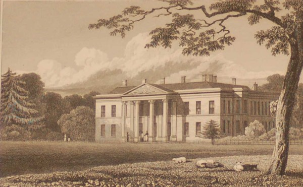 Porkington, Shropshire, antique print, an engraving from the late Georgian period, published in 1831.
