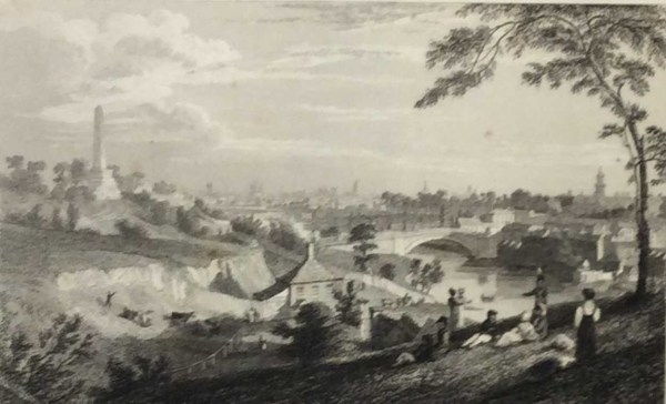 Dublin From The Phoenix Park 1832 Antique Print. The print was engraved by Edw Goodall and is after a drawing by George Pertrie.