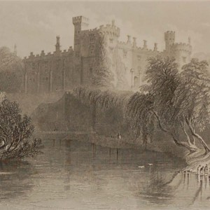 Antique prints from the 1840's of Kilkenny, Kilkenny Castle, St Canice's Cathedral and Jerpoint Abbey.