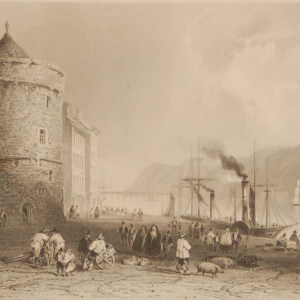 Antique prints from the 1840's of Waterford City and Waterford Quay (Reginald's Tower).