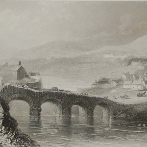 Set of (three) antique prints from the 1840's of Bray, Enniskerry and the Head of the Devils Glen, County Wicklow.