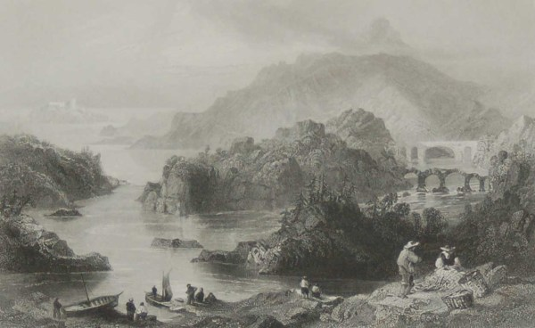 Antique prints from the 1840's of Glengariff, Cork, Cromwell's Bridge, Glengariff & the Glengariff Inn.