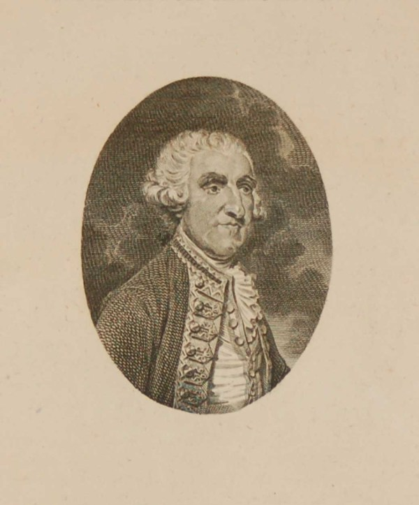 Antique Georgian engraving of Samuel Lord Hood the member for Westminster. Drawn from life by W. H. Brown and engraved by W Grainger.