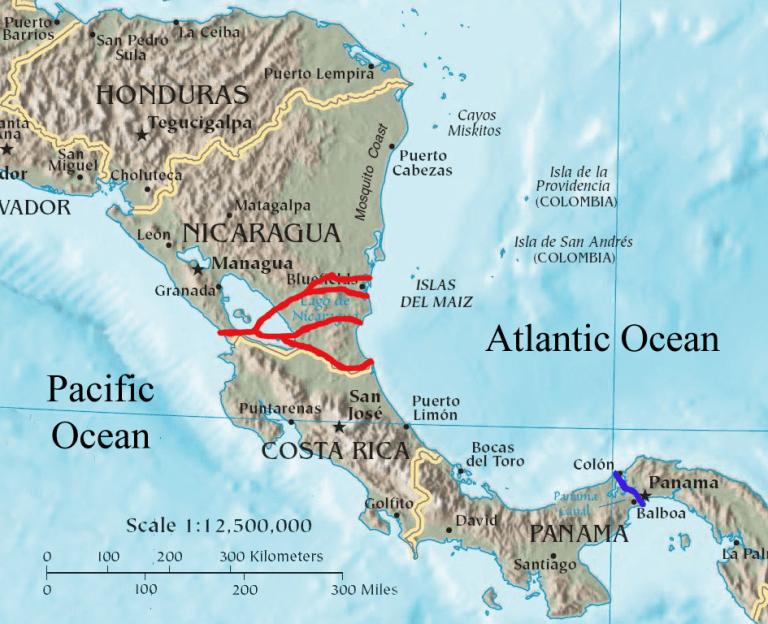 Nicaragua_canal_proposals_2013