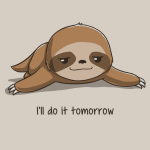 Cartoon sloth