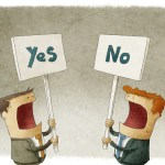 Yes no posters