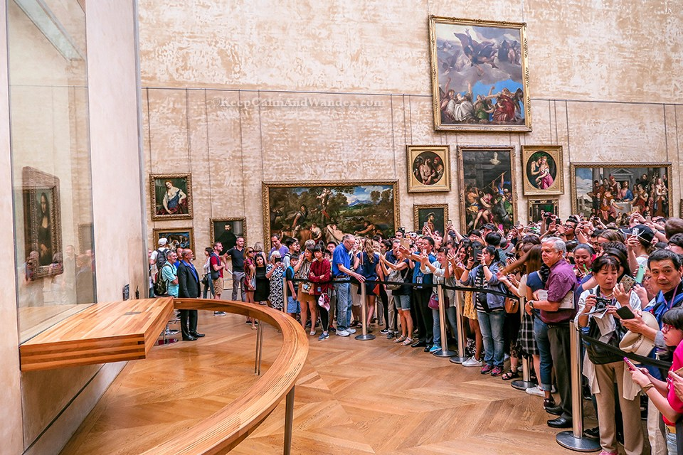 Image result for gallery goers mona lisa