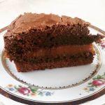 Falsa torta brownie para Ale